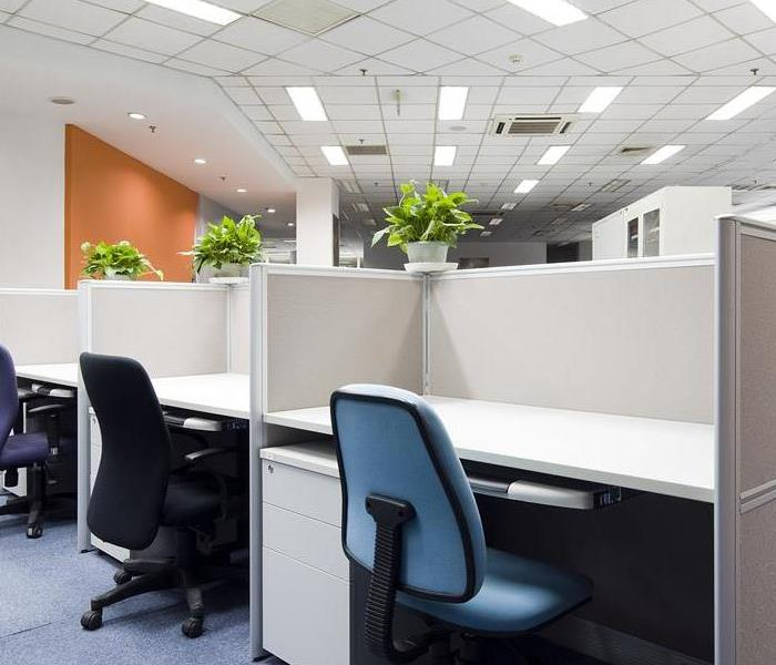 A sparkling clean office