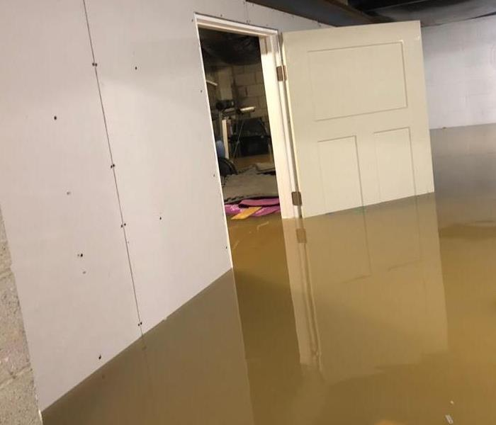 a basement that has been flooded